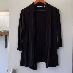 Black 3/4 sleeve cardigan